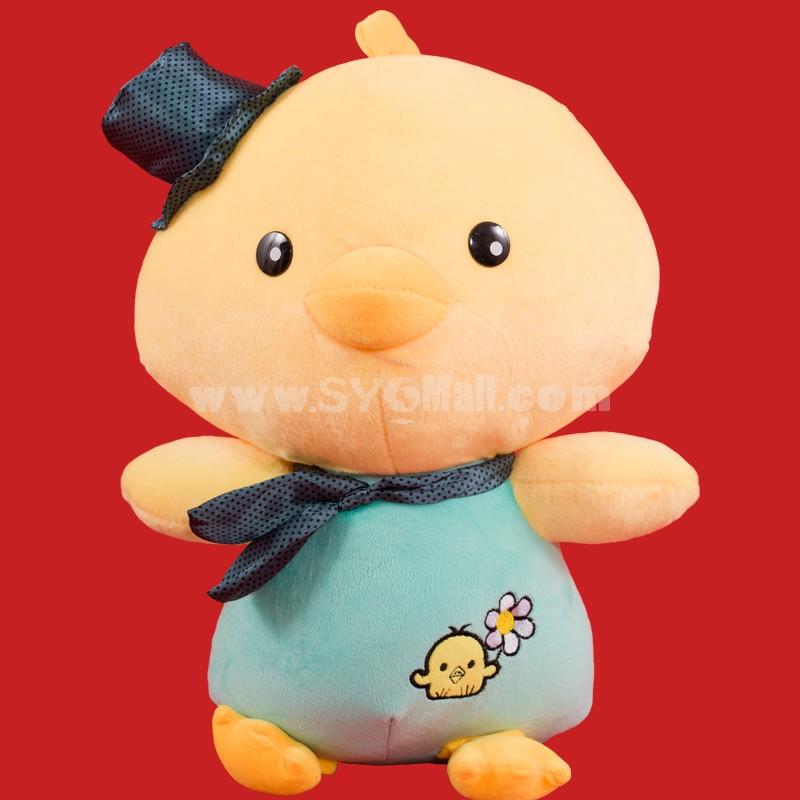 "Cute Little Yellow Chick SimSimi Plush Toy 44cm/17.3"" -- Blue"