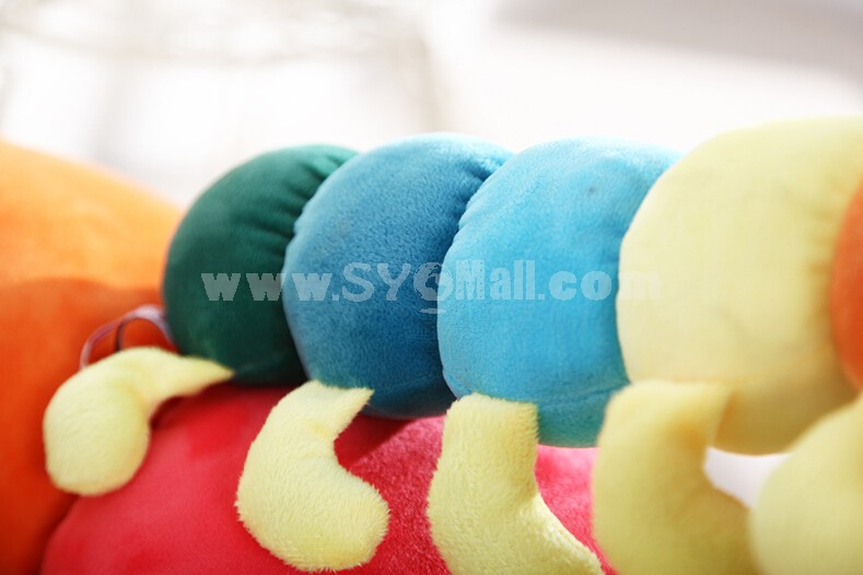 Colorful Caterpillar Plush Toy Plush Cushion 51cm/20.1""