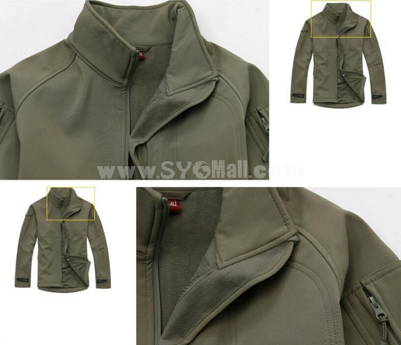 Men TAD Waterproof Windproof Soft Shell Sharkskin Leather Mauntaineering Jackt Outdoor Clothing
