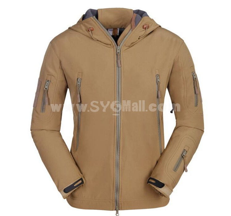 Men Waterproof Thermal Soft Shell Sharkskin Leather Mauntaineering Jackt Outdoor Clothing
