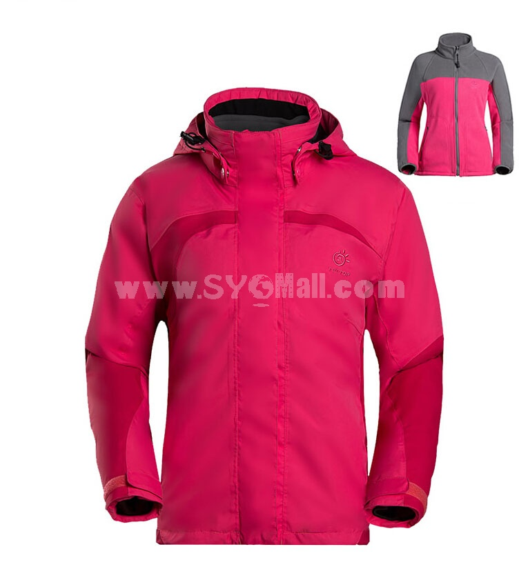 Women Professional Mountaineering Jacket WITH Fleece Inner Outdoor Clothing MCFY05/01