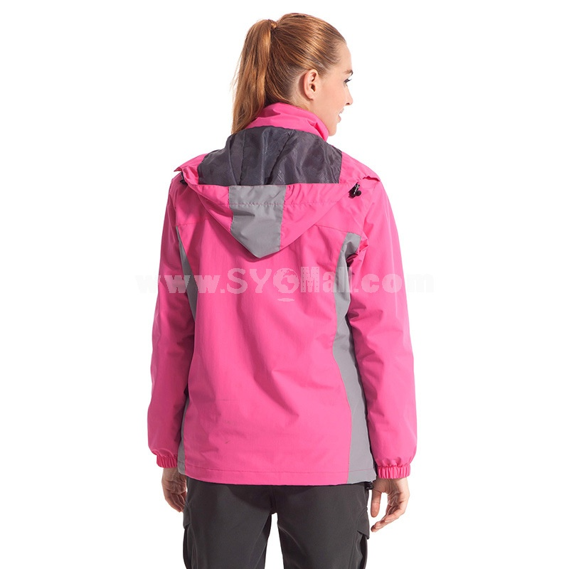 Women Thickened Mountaineering Jacket with Thermal Fleece Inner Outdoor Clothing Sports Coat
