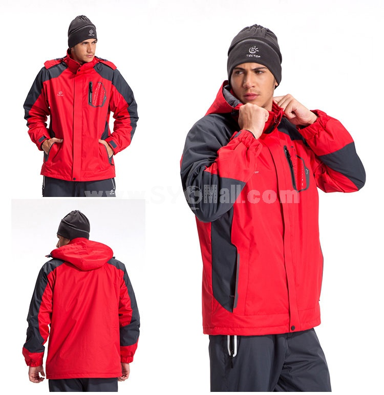 Men Mountaineering Coat with Thickened Fleece Inner Outdoor Clothing Sports Coat WJ3109