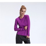 Wholesale - Women Breathable Solid Color Quick-Dry Long Sleeve T-shirt Outdoor Clothing SL3108