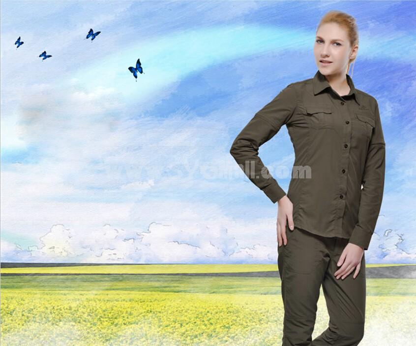 Women Quick-Dry Long Sleeve Shirt Outdoor Clothing SL3030