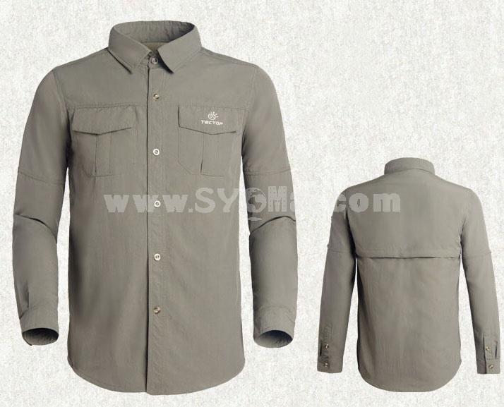 Men Quick-Dry Long Sleeve Shirt Outdoor Clothing SL3029
