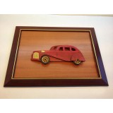 Wholesale - Handmade Wooden Home Decoration Red Vintage Car Cameo Photo Frame Gift Frame