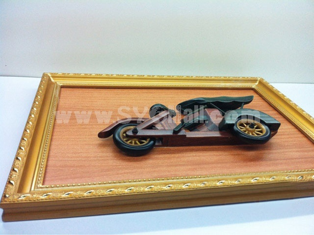 Handmade Wooden Home Decoration Vintage Car Cameo Photo Frame Gift Frame 003