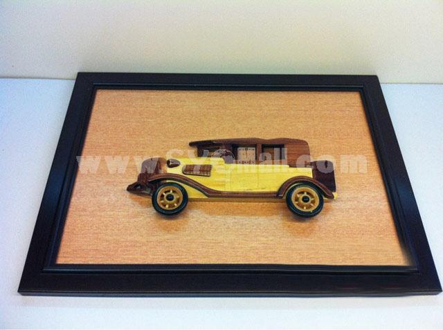 Handmade Wooden Home Decoration Vintage Car Cameo Photo Frame Gift Frame 004
