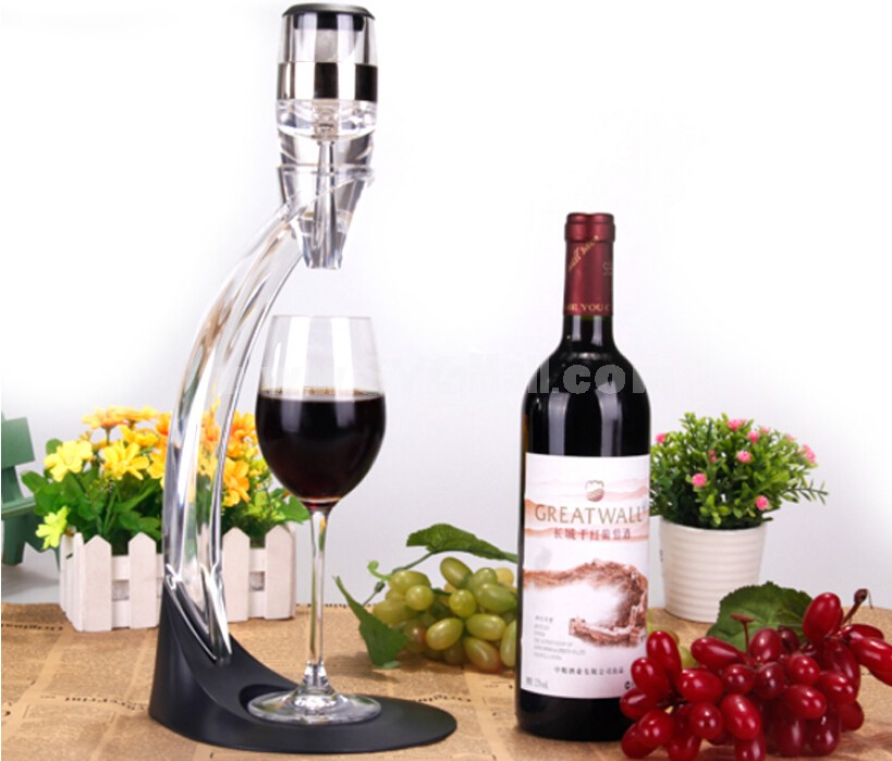 Quick Aerating Pourer Decanter Red Wine Bottle Mini Travel Aerator Wine Pourer A01