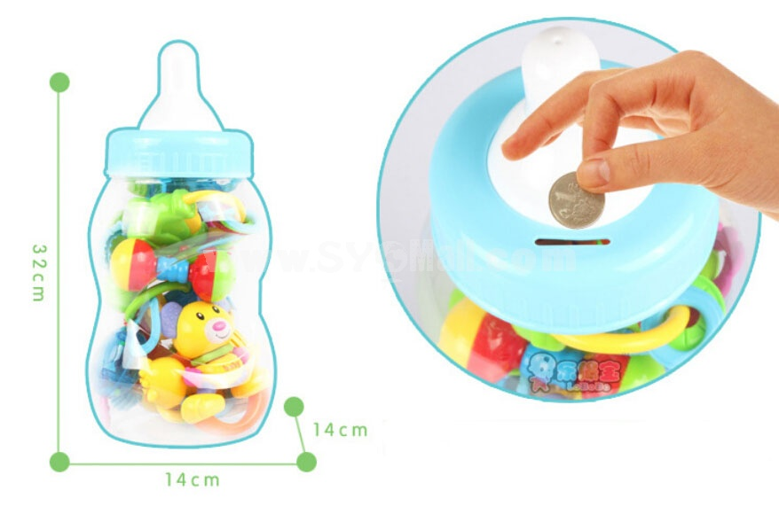 Baby Feeding-bottle Pattern 10pcs Baby Rattles Baby Toys Early Education