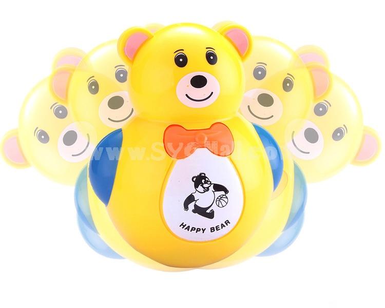 Electronic Music Tumbler Animal Pattern Baby Toy -- Yellow Bear