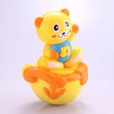 Wholesale - Electronic Music Tumbler Animal Pattern Baby Toy -- Yellow Cat