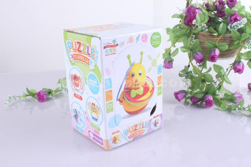Electronic Music Tumbler Animal Pattern Baby Toy -- Orange Lion