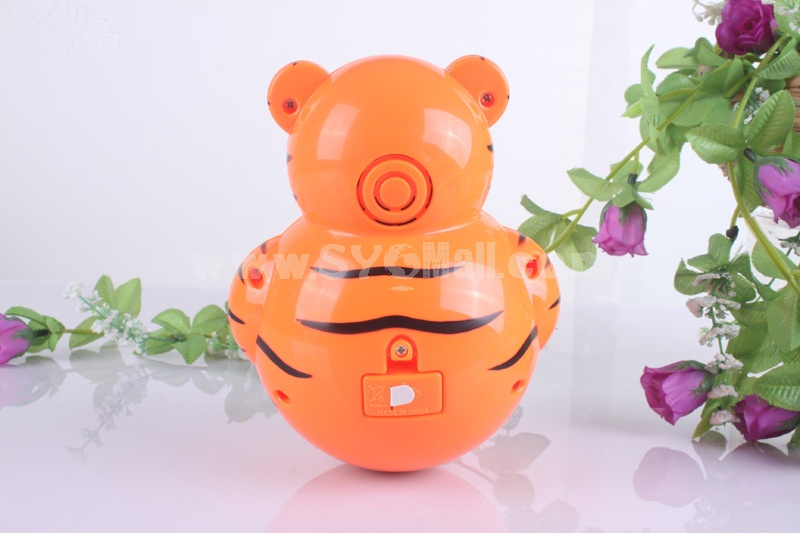 Electronic Music Tumbler Animal Pattern Baby Toy - Green Bee
