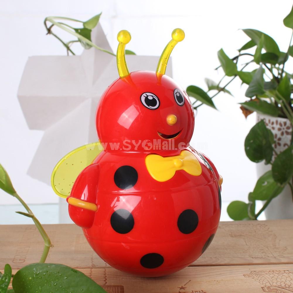 Electronic Music Tumbler Animal Pattern Baby Toy - Red Bee