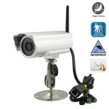 Wholesale - IP615W 24 LED CMOS 300,000 Pixels Night Vision + Motion Sensor + Email Alert Waterproof Wireless/Wired IP Camera
