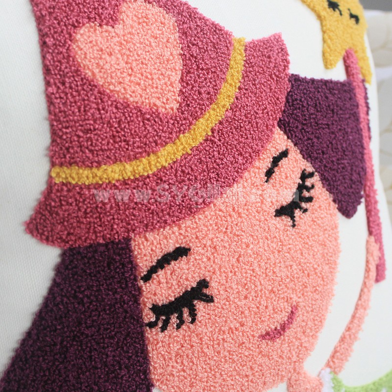 Modern Decoration Square Pillow Cover Pillow Sham -- Pretty Girl