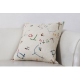 Wholesale - Home/Car Decoration Pillow Cushion Inner Included -- Scrawling Letters