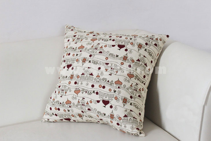 Home/Car Decoration Pillow Cushion Inner Included -- Castle