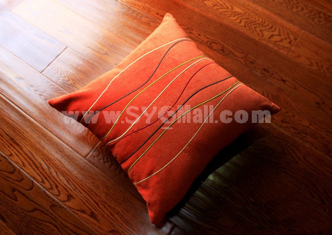 Home/Car Decoration Corduroy Pillow Cushion Inner Included -- Colorful Lines