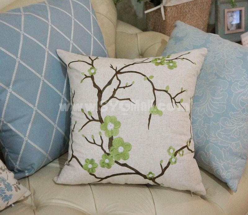 Home/Car Decoration Pillow Cushion Inner Included -- Pplum Blossom