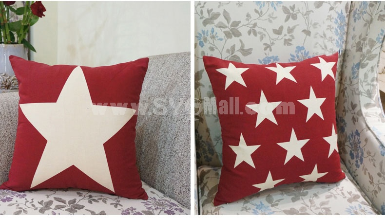 Home/Car Decoration Pillow Cushion Inner Included -- Five-pointed star