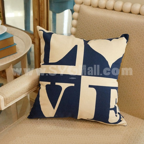 Home/Car Decoration Pillow Cushion Inner Included -- LOVE