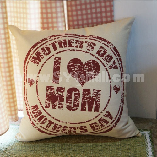 Home/Car Decoration Pillow Cushion Inner Included -- LOVE MUM