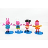 wholesale - Peppa Pig Figure Toys Princess Peppa & Pirate George 4pcs/Lot 3.5inch
