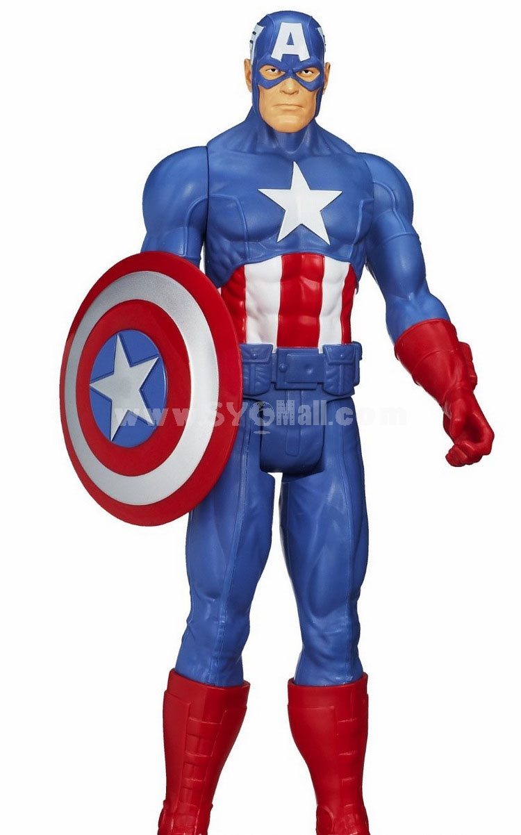 Marvel Avengers Titan Hero Series Captain America Action Figure Figure Toy 29cm/11.4inch