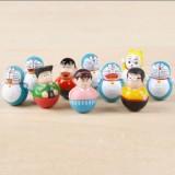 Wholesale - Doraemon Action Figures Mini Tumblers Figure Toys 1.5inch 10pcs/Set