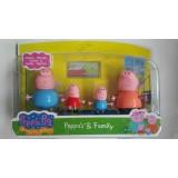Wholesale - Peppa Pig Family Figure Toys Action Figures 4pcs/Lot 2.2-3.5inch