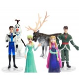 Wholesale - Frozen Princess Action Figures Figure Toys with Standing Board 6pcs/Lot Aprx. 2.0inch