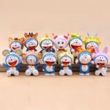 Wholesale - Animal Pattern Doraemon Figure Toys Action Figures 12pcs/Lot 2.0inch