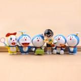 Wholesale - Doraemon Figure Toys Action Figures 6pcs/Lot 2.0inch