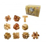 wholesale - 10 x Kongming Locks Inteligence Jigsaw Puzzles Wooden Interlocked Toys