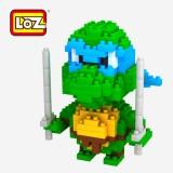 LOZ DIY Diamond Mini Blocks Figure Toy 9151 Teenage Mutant Ninja Turtles Leonardo
