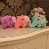 """Wholesale - Lying Elephant with Flower Plush Toy Stuffed Animal 18cm/7"""""""