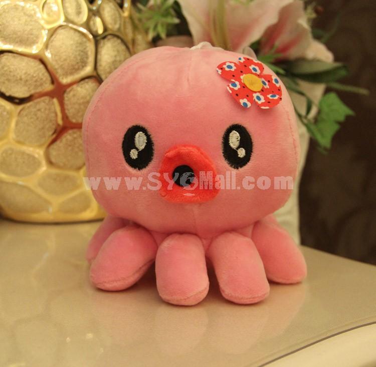 "Cute Flower Octopus Plush Toy 18cm/7"""