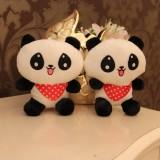 "Wholesale - Cute Scarf Panda Plush Toy Stuffed Animal 18cm/7"" Tall"