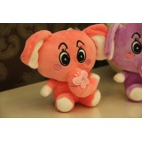 Wholesale - Cute Butterfly Elephant Plush Toy 18cm/7""