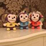 "Wholesale - Lovely Big Mouth Monkey Plush Toy 18cm/7"" 3pcs/Set"