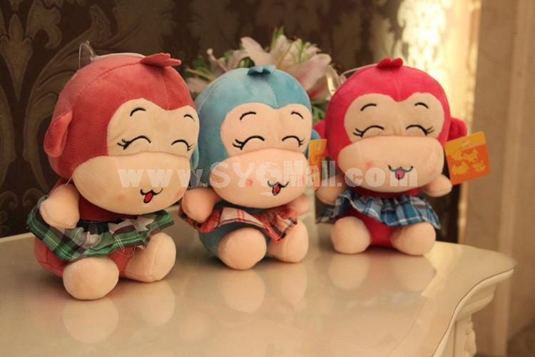 "Smiling Skirt Monkey 12s Recording Doll Plush Toy 18cm/7"""