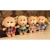 "Wholesale - Cute Plaid Skirt Bear Plush Toy 18cm/7"""