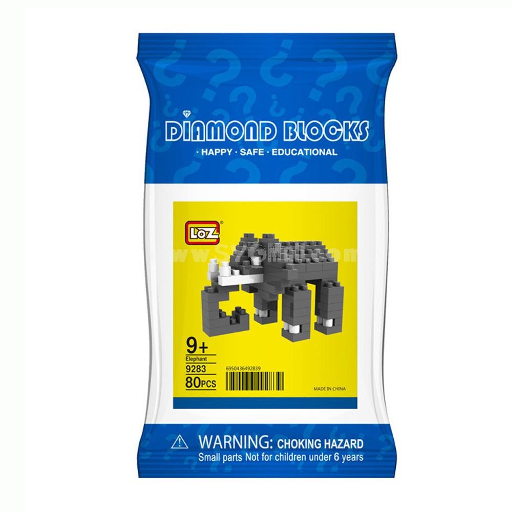 LOZ DIY Diamond Blocks Figure Toy 9283 Elephant