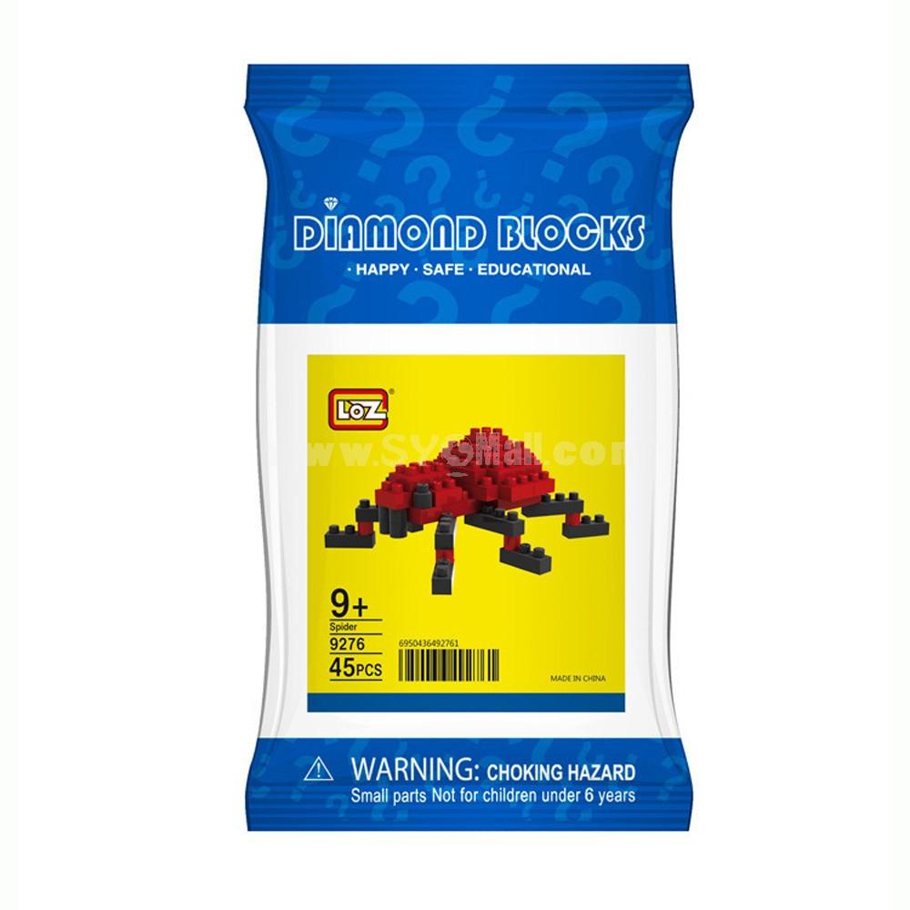 LOZ DIY Diamond Blocks Figure Toy 9276 Spider