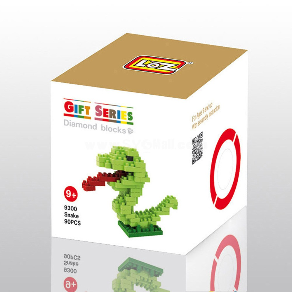 LOZ DIY Diamond Blocks Figure Toy 9300 Snake