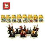 wholesale - The Castle Knights Figure Toys with Skull Man Blocks Mini Figure Toys Compatible with Lego Parts 8Pcs Set SY175