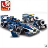 Wholesale - Sluban DIY Racing Car Series Oil Tank Blocks Mini Figure Toys Compatible with Lego Parts 196Pcs B0351
